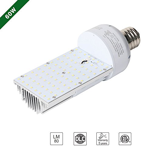 Hykolity 60W LED 180° Corn Light Bulb Retrofit Kit [175W Metal Halide|HID Equivalent] 7500lm E39 Mogul Base 5000K Daylight White for Wall Pack, Canopy Light, Flood Lamp, Area Light