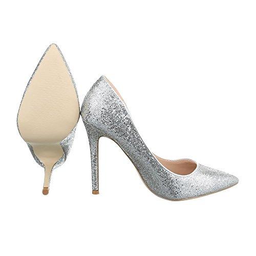 Ital-Design - Plataforma Mujer Silber 5015-59