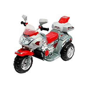 Lil' Rider Ruby Racer 3-Wheeler Motorcycle, Silver/Red