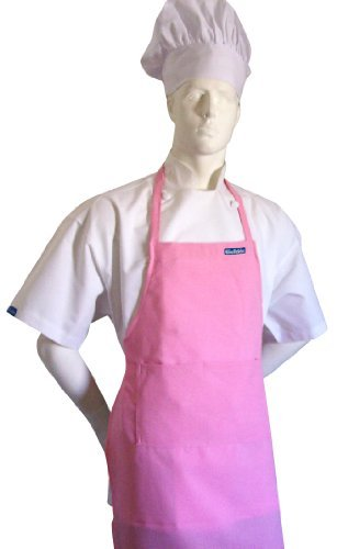 chefskin-adult-apron-pink-ultra-lightweight-cool-fresh-very-comfortable-center-pocket-and-long-ties-
