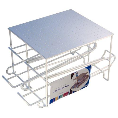 Refrigerator Can Dispenser - Organized Living 24 Can Beverage Dispenser - White
