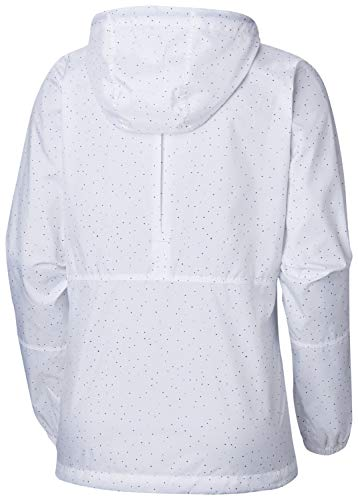 Bianco Printed white Da A Donna Impermeabile Vento Giacca Print Dots Flash Poliestere Columbia Forward PCwq8v5na