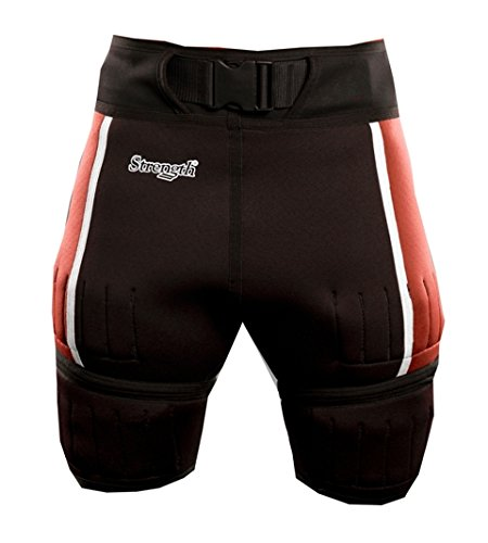 Strength SWSR1301L Strength Weight Shorts - Red Large
