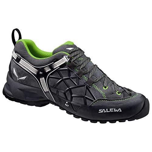 Salewa Unisex Wildfire Pro Approach Shoe, Carbon/Green, 8.5