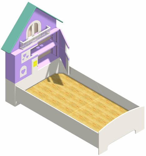 Doll House Bed - Woodworking Plans with Full Scale Curves (Twin-Size)