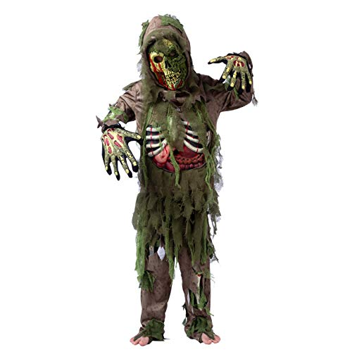 Swamp Deluxe Skeleton Living Dead Zombie Costume for Halloween Kids Monster Role-Playing (Large (10- - http://coolthings.us