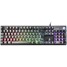 TECLADO GAMER HP RGB, PRETO, ABNT 2, USB, SEMI-MECANICO - K500F