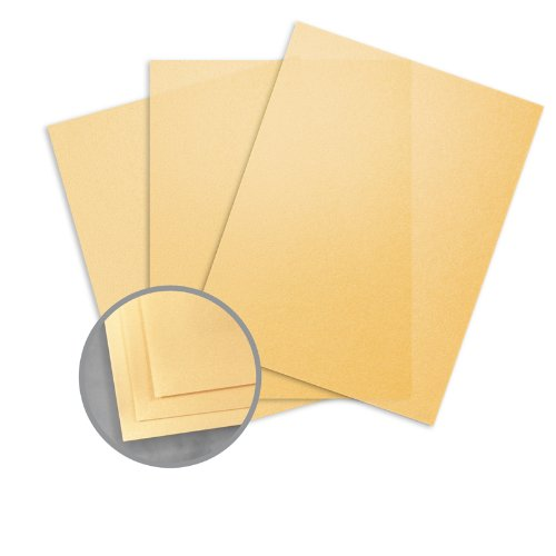 Glama Natural Gold Paper - 8 1/2 x 11 in 27 lb Bond Translucent Vellum 500 per Ream