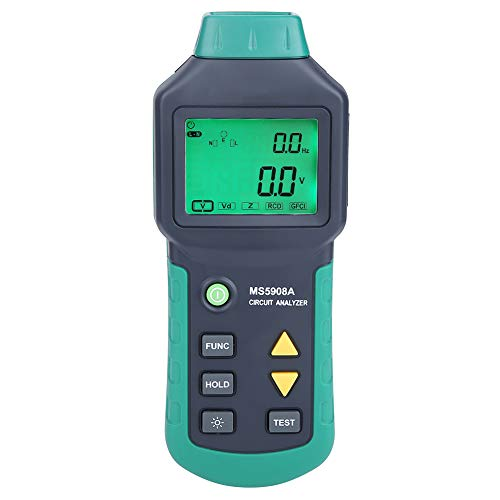 - MASTECH LCD Circuit Analyzer,Low Voltage Distribution Line Fault Tester RCD GFCI Sockets AC100-240V MS5908A/MS5908C (MS5908A)