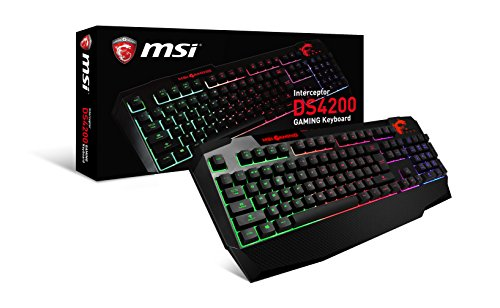 MSI Interceptor DS4200 GAMING Keyboard Anti-Ghosting Multi Color Backlit Ergonomic Design
