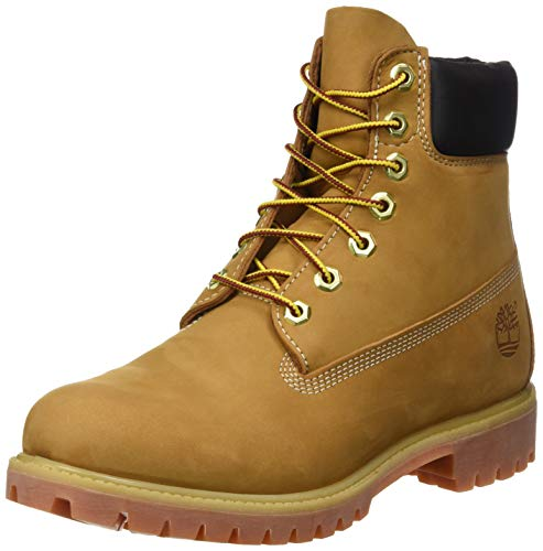 Timerbland Men's 6 inch Premium Waterproof Boot, Wheat Nubuck, 8