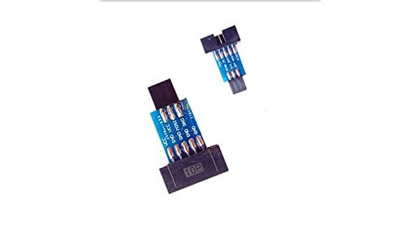2pcs 10 Pin Convert to Standard 6 Pin Adapter Board ATMEL AVRISP USBASP STK500