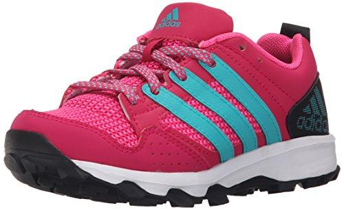 Image of the adidas Performance Kanadia 7 TR K Trail Running Shoe ,Bold Pink/Shock Green/Black,10.5 M US Little Kid