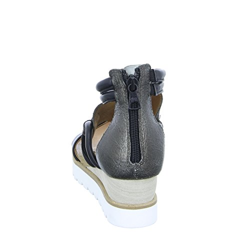Mjus 221006 Damen Sandalette Echtleder Riemchen Bronze Reißverschluss Braun (Nero)