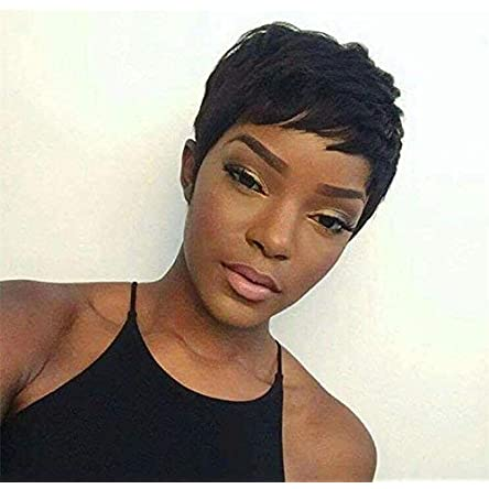 Yviann Pixie Cut Wigs Short Human Hair Wigs for Black...