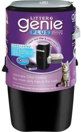 Litter Genie Sistema de eliminación de Arena para Gatos con Sistema de Cola sin Olor Plus: Amazon.es: Productos para mascotas