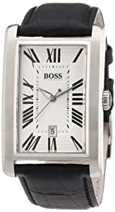 Hugo Boss 1512707 - Reloj analógico de cuarzo para hombre, correa de cuero color negro