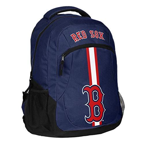 1pc Large MLB Red Sox Backpack, Stripe Logo Baseball Themed School Bag Sports Pattern, BOS Merchandise Athletic American Team Spirit Fan Blue Red Black White, Polyester