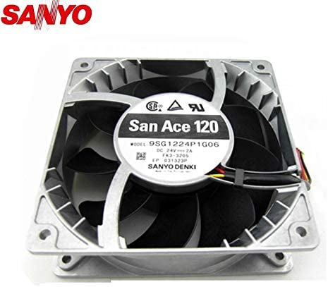 original For Sanyo 9SG1224P1G06 24V 2.0A 12012038mm 6000RPM 260CFM powerful cooling fan