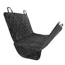 Fypo Hunde Autoschondecke, Rücksitz Hundedecke Kofferraumschutz für Hunde schütz für Ihre Hunde Anti-Rutsch Wasserdicht Hochwertiges Material 65*55 größer dicker Schwarz