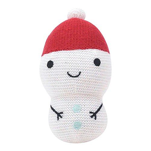 Hallmark Baby Festive Holiday Soft Snowman Rattle (Snowman Soft)