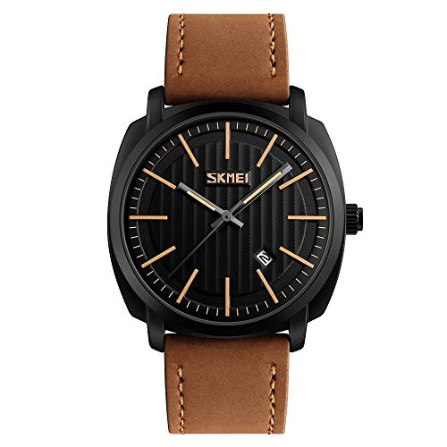 (DYR Fashion Calendar Watch Simple Business Casual Male Form Calendar Large dial Quartz Watch)