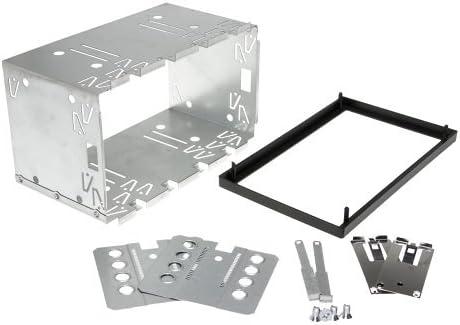 Auto Radio Blende Halterung Schacht Rahmen Doppel Din Iso Universal Metall Auto
