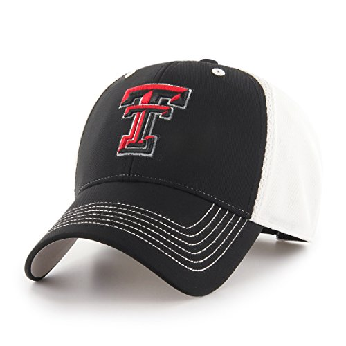 NCAA Texas Tech Red Raiders Sling OTS All-Star MVP Adjustable Hat, Black, One Size