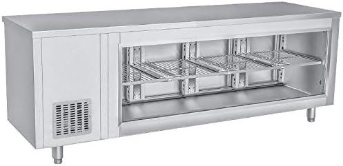 Kühltisch mit Glasfront - 2,3 x 0,7 m