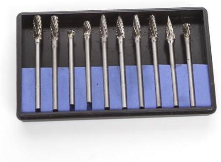 10x Tungsten Carbide Cutter Rotary Burr Set 1//8 Shank Drill Bits Die Grinder Bit