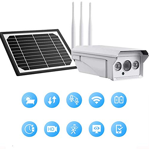 DBM-TOR Security WiFi Outdoor 4G Camera Solar Surveillance Camera Wireless Waterproof 1080P HD Cam with Human Detection and Push Alerts, Home Indoor/Outdoor Use,80W80A