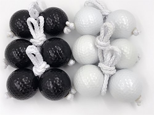 Ladder Toss Ball Replacement Ladder Balls Bolos Bolas Ladder Golf With Real Golf Balls?White and black