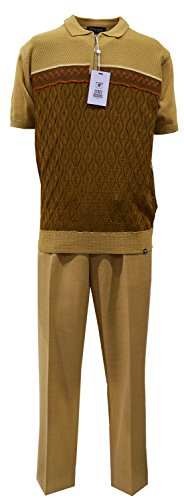 STACY ADAMS Men's Polo & Pant Set, Multi Panel Jaquard for sale  Delivered anywhere in USA