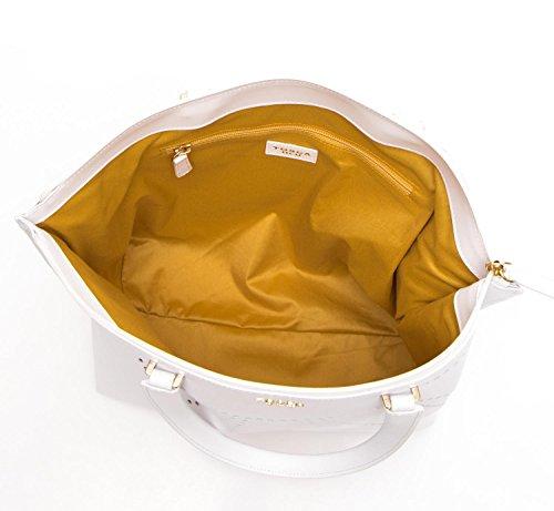 Mujer Asas Bianco Blanco Tosca 32x45x16 De Para Bolso Blu Cm Piel OwTqYRU