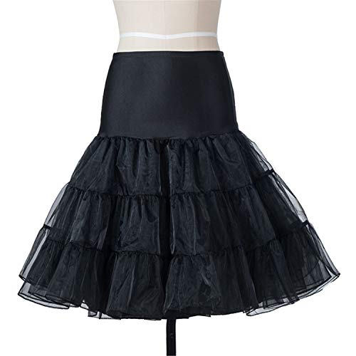 Cheryl Bull Fashion Women 50S 60S Vintage Robe Swing Pinup Party Dress CasualPrint Black Pettiskirt Black XXL ()