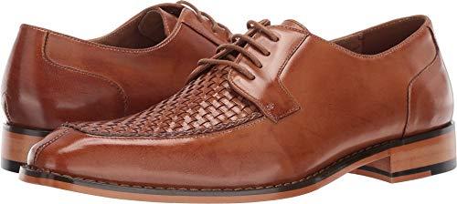 STACY ADAMS Men's Winthrop Moc-Toe Lace-Up Dress Oxford, tan 11 M US - Embossed Leather Blazer
