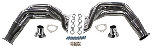 NEW SOUTHWEST SPEED CHROME-PLATED 55-57 CHEVY FENDERWELL HEADERS FOR BIG BLOCK CHEVY 396-502 ENGINES, TRI-5, STREET ROD, HOT ROD, RAT ROD, NOSTALGIA, VINTAGE, 1955 1956 1957