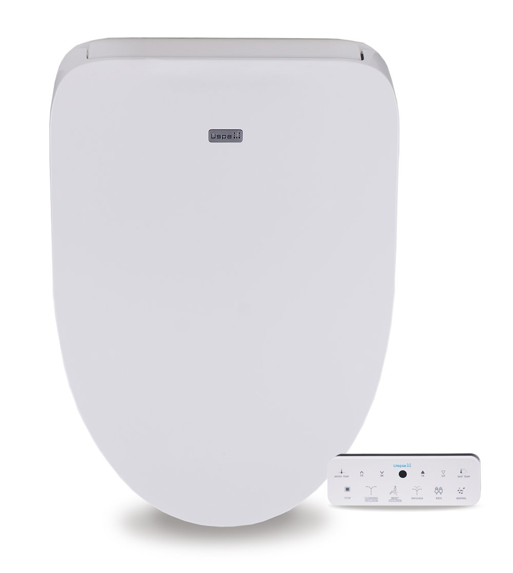 Divine UB4800 Elegant and Luxurious Advanced Electronic Bidet Toilet Seat with Sleek Wireless Touchscreen Remote and Cozy Heated Seat, Elongated White