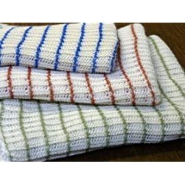 World's Best Dish Cloths - Set of 12 - Assorted Colors 36 IDEAL FOR WASHING, DUSTING OR CLEANING ALMOST ANYTHING FROM CAR TO KITCHEN TO SHOP. YOU CAN USE THEM ANYWHERE. Great for polishing, camping, fishing, hunting, cleaning your car, truck, boat or camper. ASSORTED COLORS - You could receive Red, Blue, Green, Brown, Tan, Yellow, Orange, Mint, Aqua, and more. The colors will vary. Double-Layered, Cotton/Poly blend. Best if laundered before using.