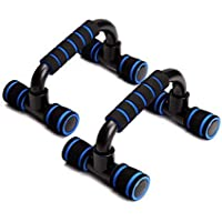 AURION Push Up Bars Stand with Foam Grip Handle for Chest Press, Home Gym Fitness Exercise, Strength Training (Multi Color)