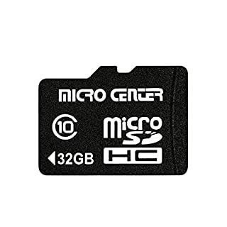 Micro Center 32GB Micro SD Card Class 10 Micro SDHC Flash Memory Card with SD Card Adapter