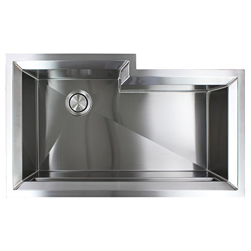 Transolid PUSSO352111 Studio Undermount Kitchen Sink 34.5-in L x 20.5-in W x 11-in H Stainless Steel
