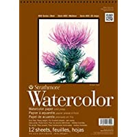"Strathmore (298-112) 400 Series Watercolor Pad, Cold Press, 12""x12"", 12 Sheets"
