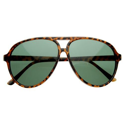 zeroUV - Vintage Inspired Classic Tear Drop Plastic Aviator Sunglasses - Sunglasses Teardrop