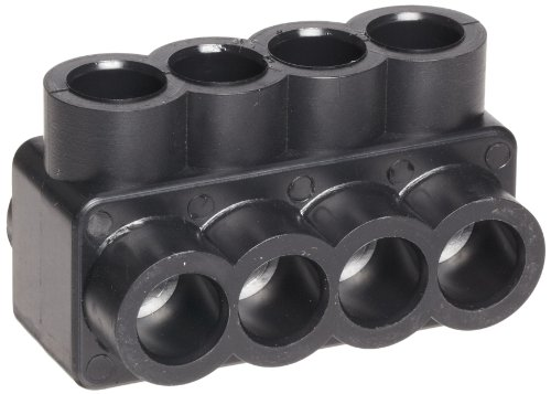 - Morris Products Black Insulated Multi-Cable Connector - 4 Wire Ports, 4-14 Wire Range, Slotted Allen Hex - 1.92