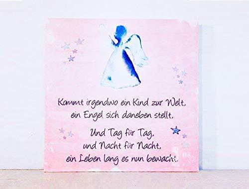 Holzbild Mit Sprüchen Zur Geburt Rosa Mädchenkommt