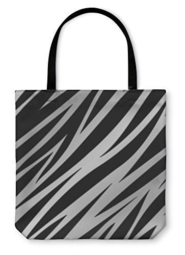 Gear New Shoulder Tote Hand Bag, Silver Zebra Print, 13x13, 3517266GN