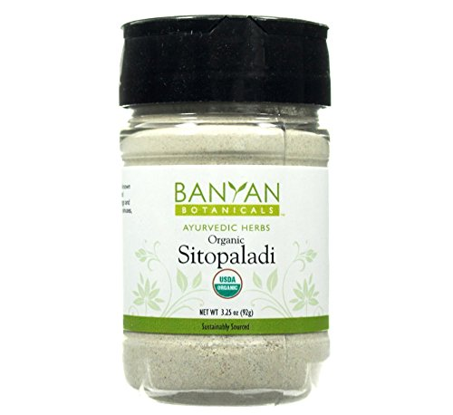 Banyan Botanicals Sitopaladi Powder - Certified Organic, Spice Jar - Supports the proper function of the respiratory system and promotes well-being*