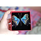 Butterfly brooch chez beads Gift box included Mariposa broche Chez beads Caja de Regalo incluido