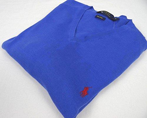 Ralph Lauren Pullover für Herren - V-Neck - Blau - Größe M